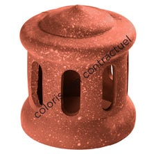 Cowl for pipe collar tile large model 160 Red Nuance