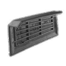 Left hand independent cloaked verge tile DELTA 10 Slate