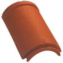 Half round interlocking ridge / hip large model (2,5 per m) Natural Red