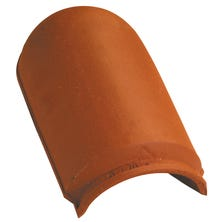 Flat hip end tile with interlock Natural Red
