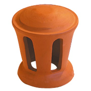 Accessoire terre cuite d'EDILIANS : Lanterne petit modèle conique 100 (Section d'aération 30 cm2) Rouge
