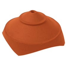 Junction and finial base with 4 large round openings Natural Red