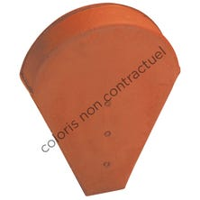 Ridge end piece small model for half round or conical ridge (small opening) Red Nuance