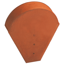 Large format ridge end piece for flat ridges, double roll and conical (large opening) Natural Red