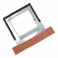 Adjustable Zinc flashing for 60 to 110 cm natural-coloured lead bushel