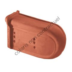 Non-interlocking left hand verge stop end tile Slate