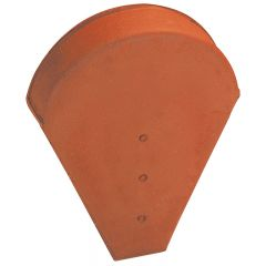Ridge end piece small model for half round or conical ridge (small opening) Natural Red