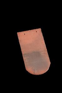 Accessoire terre cuite d'EDILIANS : Tuile courte écaille 16x38 faîtage Rouge Patine