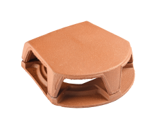 Cowl for pipe collar tile 126 and 160 (opening 259 cm²) (conform to Mechan) Natural Red