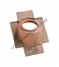 Pipe collar tile Tuiles PLAIN TILEs 16x27 & 17x27 160 Red Nuance