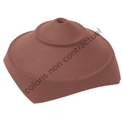 Junction and finial base with 4 small round openings Slate