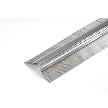 Ventilating galvanised strip SHARK+ textured lead 140mm lacquered  - 2 m Red