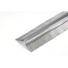 Ventilating galvanised strip SHARK+ textured lead 90mm natural - 2 m