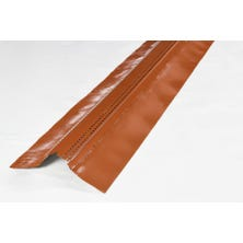 Ventilating galvanised strip SHARK+ textured lead 140mm lacquered  - 2 m Old Red
