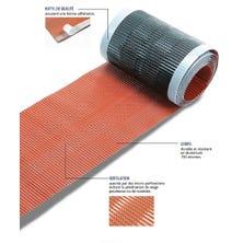 Ventilating flexible aluminium strips ZEF 300 - 5 m Red